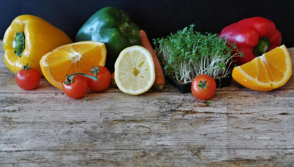 βカロテンが豊富な野菜、果物 ピーマン 人参 柑橘類 など