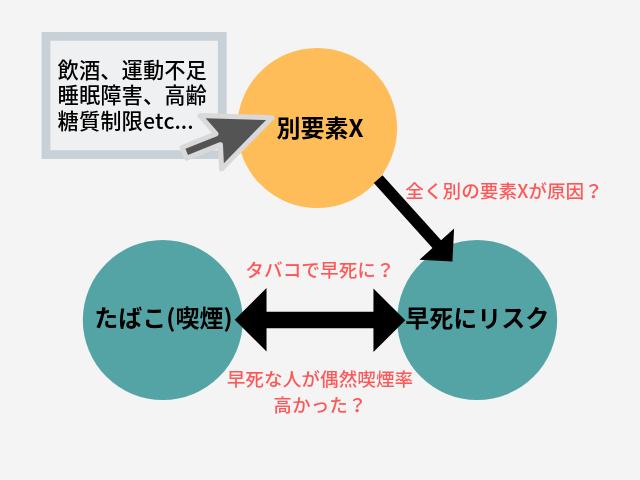 相関関係 因果関係 図