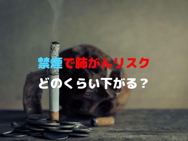 禁煙 肺がん リスク 下がる