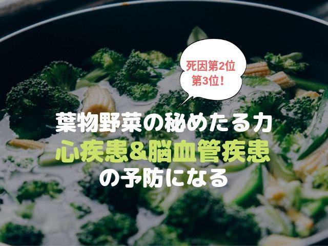 葉物野菜 アブラナ科 心疾患 脳血管疾患 予防