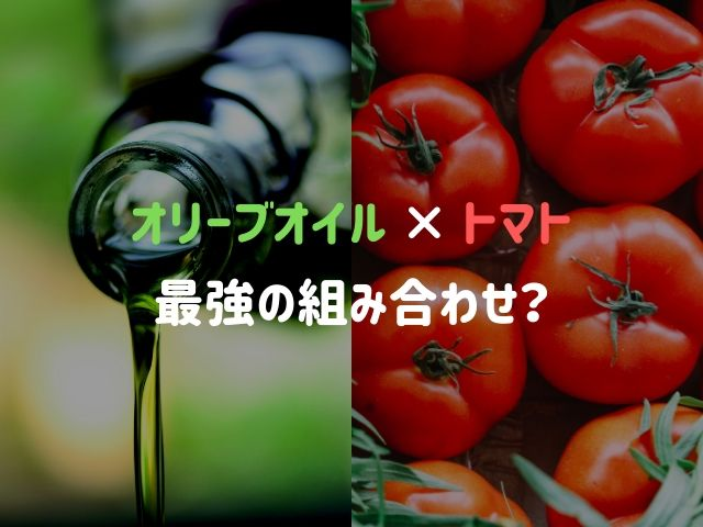 トマトとオリーブオイルは最強の組み合わせ?!生トマトやトマトソース単体と比較した結果..