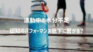 運動中はしっかり水分補給をしないと脳の認知機能が一時的に低下するかも